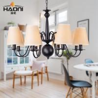 浩尼美式乡村铁艺吊灯简约现代灯具大气复式楼客厅卧室餐厅灯饰