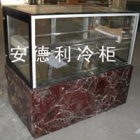 供应安德利订做大理石包边蛋糕直角柜 不锈钢支架 钢化玻璃 进口压缩机等